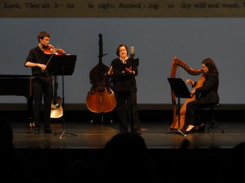 Quinn Maher, viola; Gretchen Bashforth, soprano; Dana Maher, Celtic harp