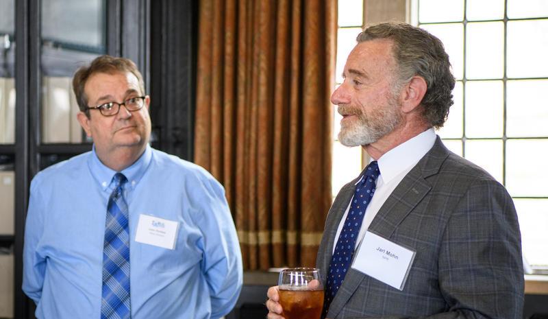 News Director John Durkee with Mr. Jarl Mohn