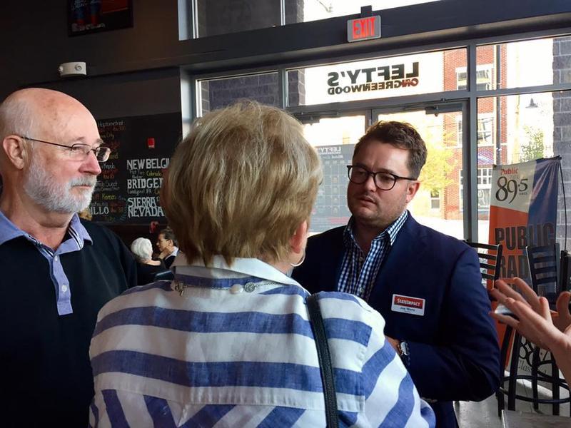 Joe Wertz visiting with listeners