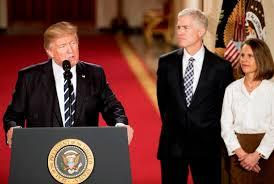 President Trump with Judge Neil Gorsuch