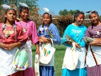 Young members of The Brave Heart Women's Society on Yankton Sioux/Ihanktonwan Oyate Reservation in South Dakota.