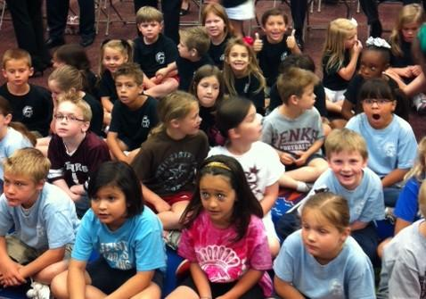 Students at Jenks West Elementary