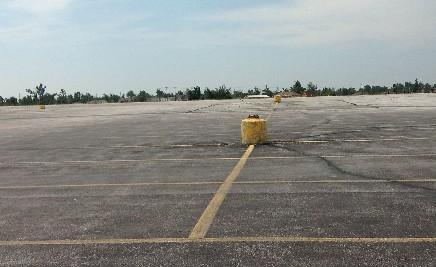 The parking lot is all that remains of the Dillion's Supermarket