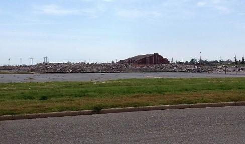 Rubble is all that is left of the original Joplin High School at 20th and Indiana.