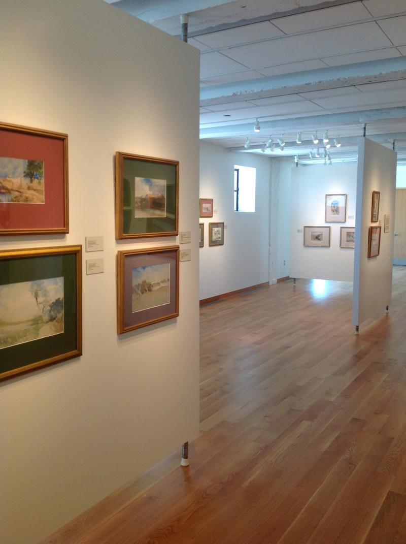 The first floor gallery of the Zarrow Center
