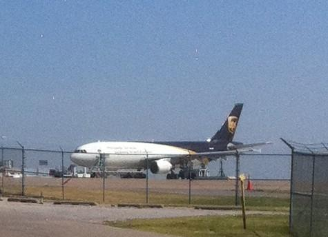 An UPS Jet at the cargo terminal at Tulsa International
