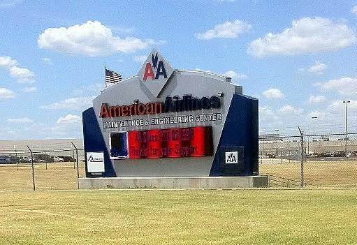 The entrance to American Airlines operation in Tulsa