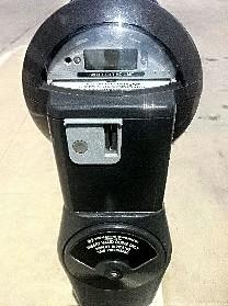 A  non-functioning downtown Tulsa parking meter