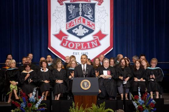 President Obama speaks to Joplin High School Graduates
