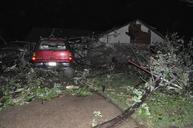 Tornado damage near Woodward