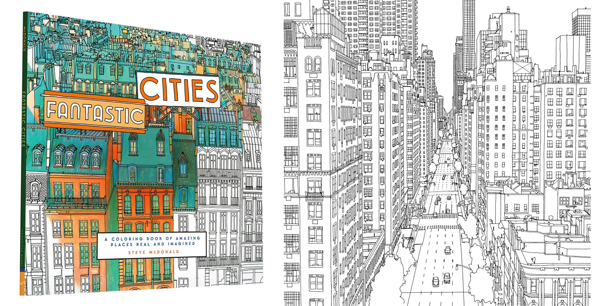 On This Edition Of Our Show We Speak With Steve McDonald An Artist And Illustrator From Canada About His New Book Fantastic Cities A Coloring