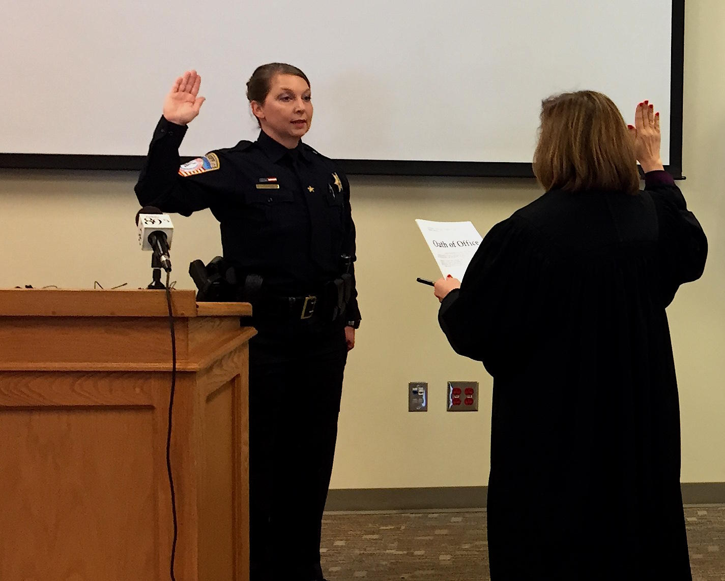Former Tulsa Officer Shelby Sworn in as Sheriff's Reserve Deputy