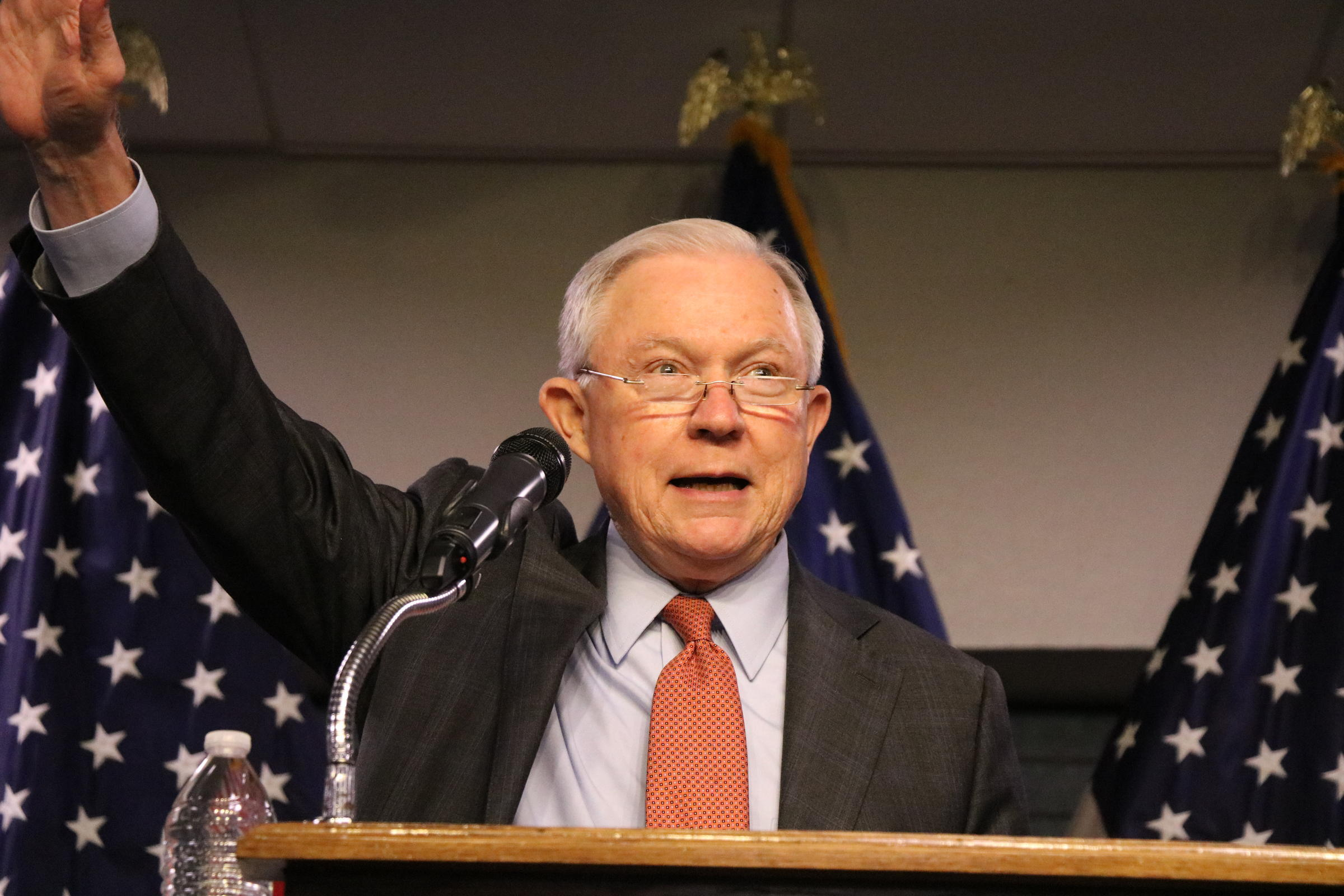 Attorney General Jeff Sessions in Austin on Friday