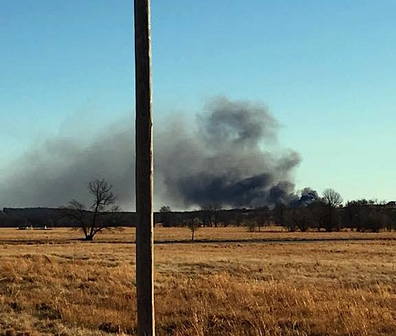 Gas well catches fire in Oklahoma