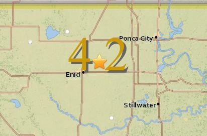 Two 4.2-magnitude earthquakes strike near Enid, Okla.
