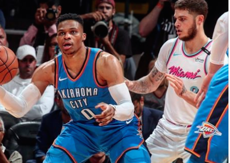National Basketball Association capsules: Paul George, Russell Westbrook help Thunder clinch playoff spot