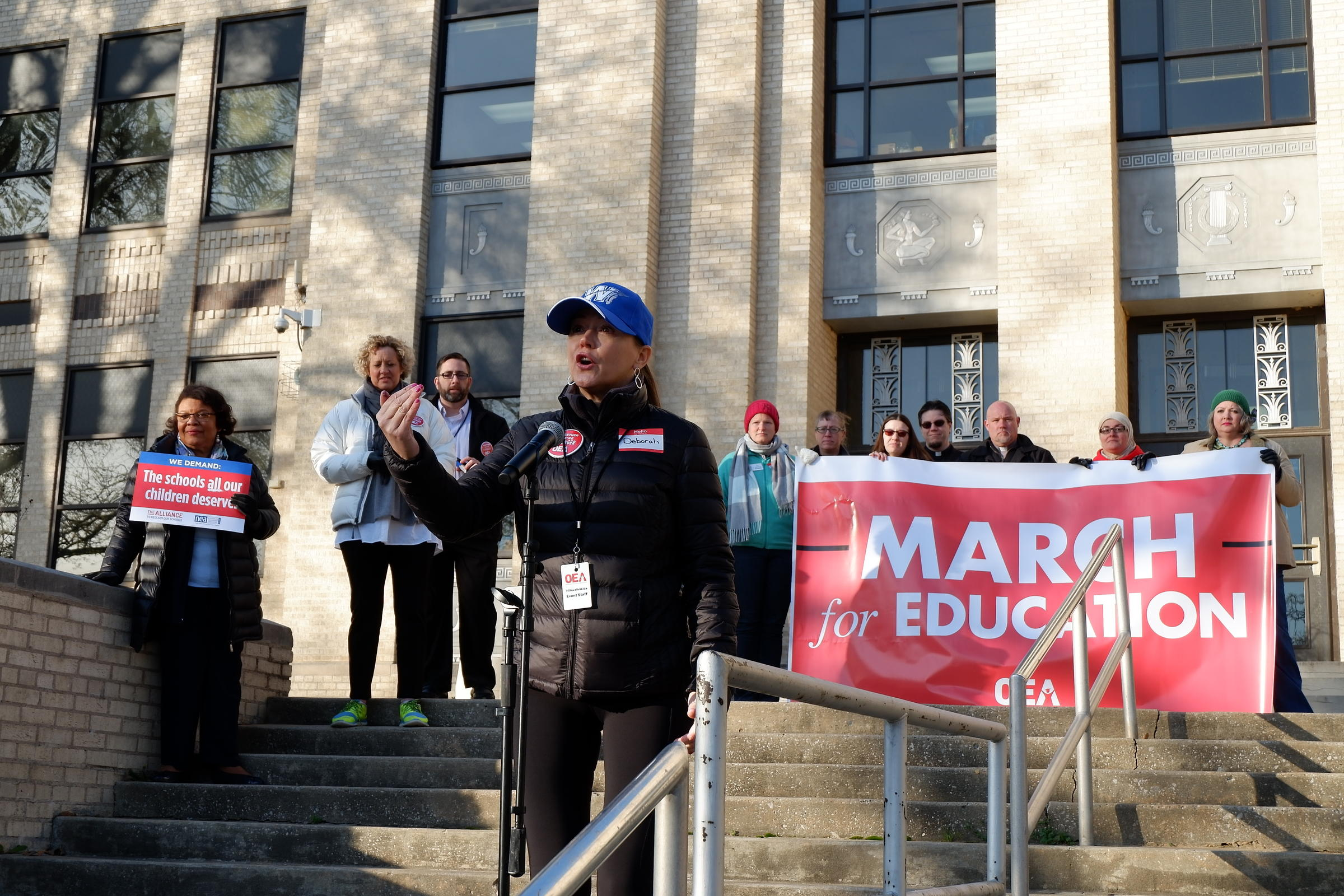 Oklahoma teacher walkout continues into week two