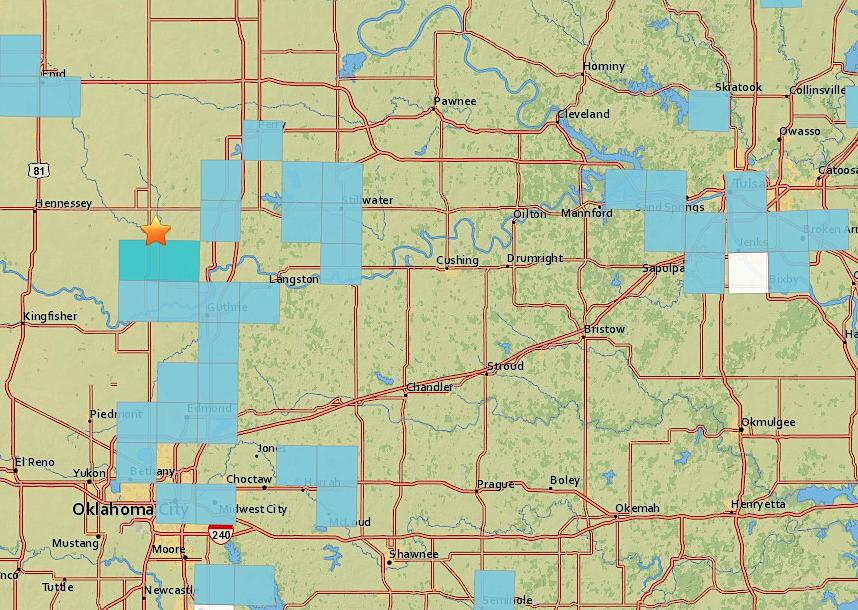 Magnitude 4.1 Quake Northwest Of Guthrie Shakes Oklahoma