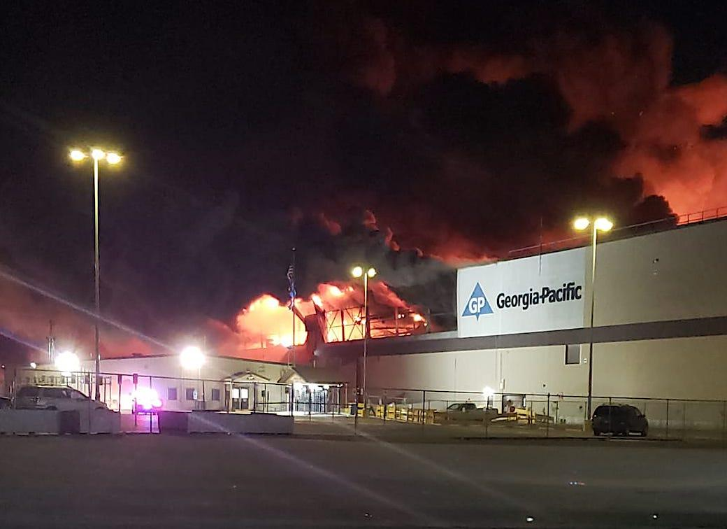 explosion and fire at muskogee plant