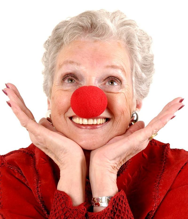 Jenny Herrick wearing a clown nose