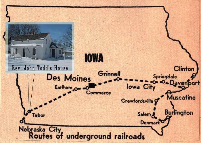 Salem Iowa Map.A Path To Freedom Through Tabor Iowa Kwit