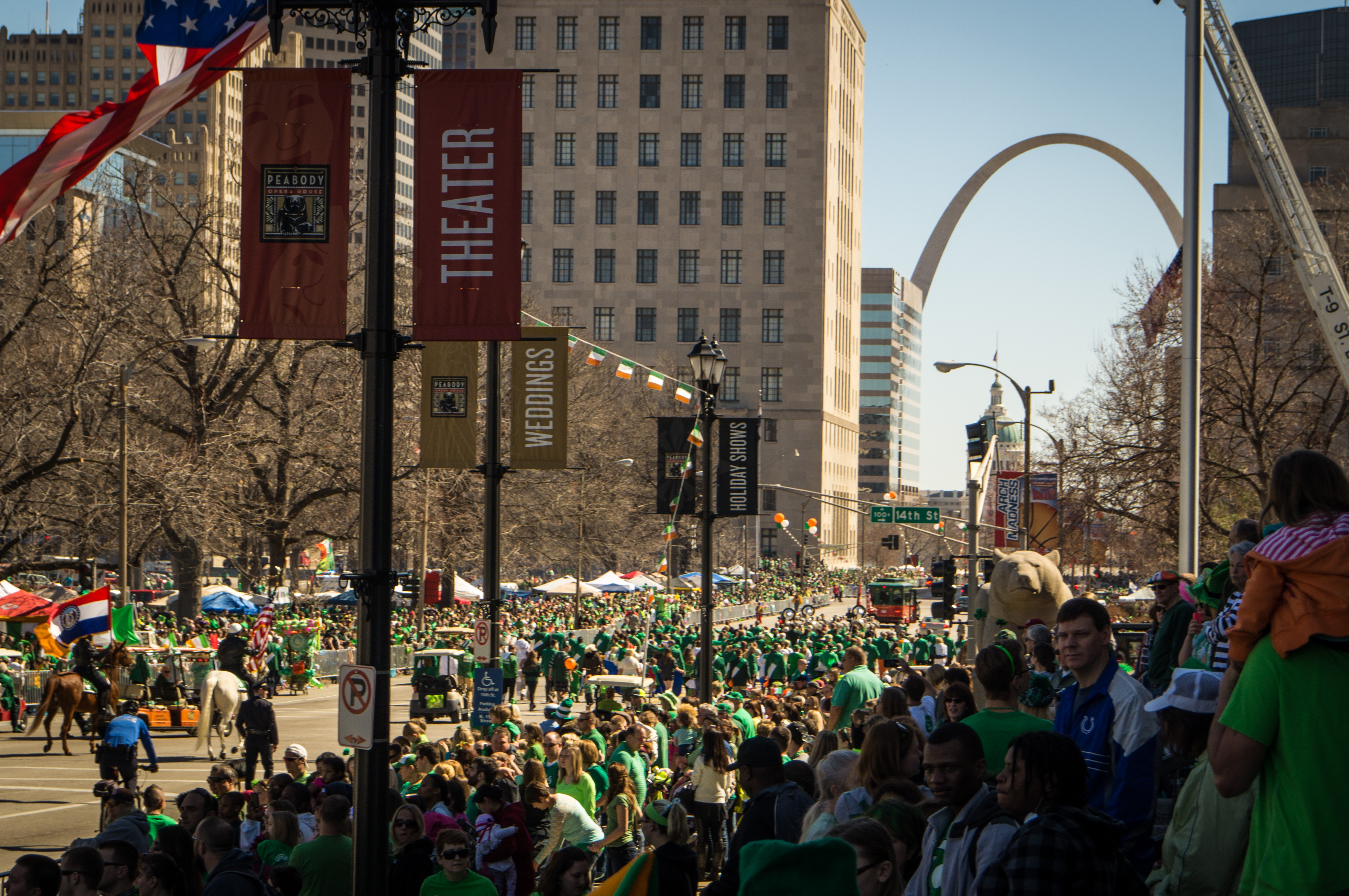 St. Patrick's Day parade marked the first use of a statewide radio
