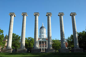 The iconic columns at the University of Missouri-Columbia -- a fitting icon for a rundown on college education.