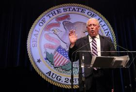 Illinois Governor Pat Quinn delivered the annual State of the State speech at the state capitol in Springfield Wednesday.