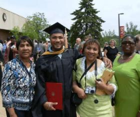 Clark Porter with family when he received his masters degree from the University of Missouri-St. Louis.