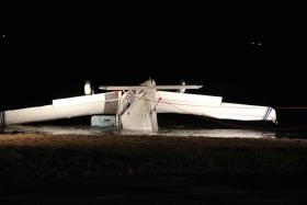 A small plane crashed into Creve Coeur Lake on Wednesday, Oct. 24.