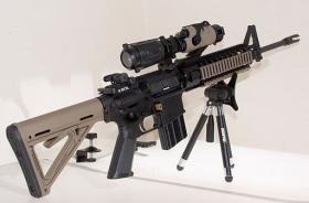 The AR-15 rifle is made by several weapons companies
