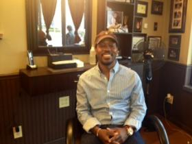 Tapers Barber Shop owner William Humphrey is opening his doors to sign up potential Big Brothers Big Sisters volunteers.