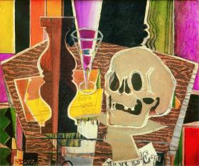 Georges Braque, Baluster and Skull (recto), 1938.