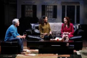 Ward Duffy as Mike, Zoey Martinson as Kate and Denise Cormier as Margaret in The Rep's production of