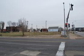 The corner of Grand Blvd. and Cass Ave. where a Dollar General is slated to be built.