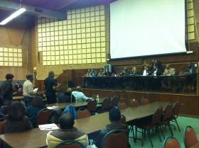 Members of Missouri Legislative Black Caucus field questions during a town hall meeting on Saturday, Feb. 23, 2013.