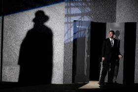 "David Christopher Wells in The Rep's ""Double Indemnity""."