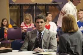 Former Ellisville Mayor Adam Paul during an impeachment hearing on Monday, April 8, 2013