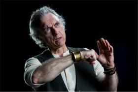 "Jerry Vogel in Upstream Theatre's ""An Iliad""."