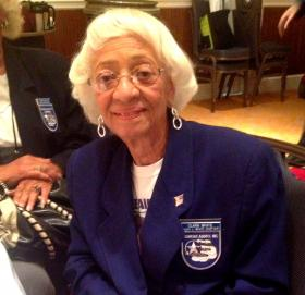 Clara White is the president of the Hugh J. White chapter in St. Louis. The chapter is named after her husband, who flew during World War II.