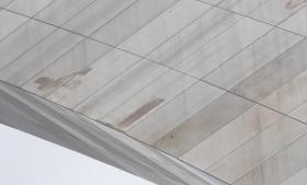 Stains visible on the Arch's surface in Sept. 2012.