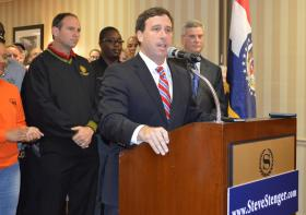 Steve Stenger at his campaign kickoff for county executive in 2013.