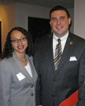 Opal Jones, CEO of Doorways, was among well-wishers at a recent community reception for local Urban League CEO Michael McMillan. Doorways provides housing and other services for people affected by HIV/AIDS.