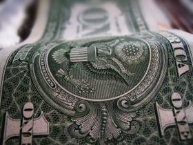 a rolling dollar bill