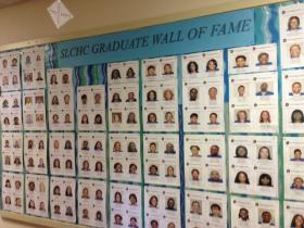 Wall of Fame at St. Louis College For Health Careers.