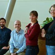 The Danforth Center's newest batch of researchers, from left to right: Christopher Topp, Dan Chitwood, Rebecca Bart, Elizabeth Kellogg.