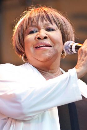 Mavis Staples performing at the Chicago Blues Fest in 2012.