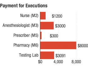 Members of the execution team, who are all given a pseudonym to ensure their secrecy, are paid in cash.