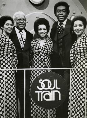 The Staple Singers performing on Soul Train in 1974.