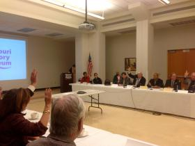 Trustees vote for Levine's appointment.